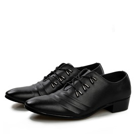PU Ruffles Lace-Up Dress Shoes