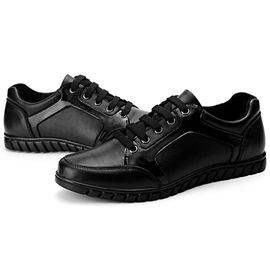 PU Lace-Up Round Toe Casual Shoes