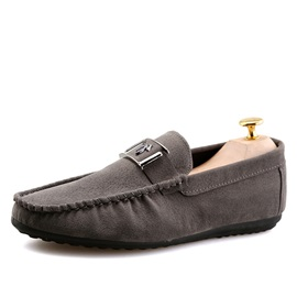 Solid Color PU Slip-On Loafers