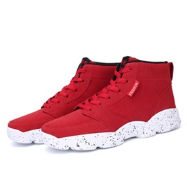 Nubuck Leather High-Cut Upper Lace-Up Sneakers