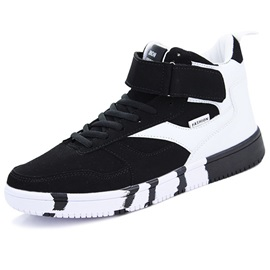 PU Color Block Velcro Fashion Sneakers for Men