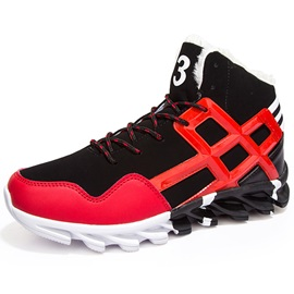 PU  Lace-Up Men's Sneakers Boots