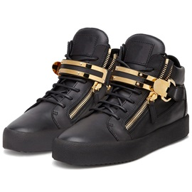 PU Sequins Round Toe High-Cut Upper Men's Sneakers