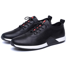 PU Plain Lace-Up Round Toe Men's Sneakers