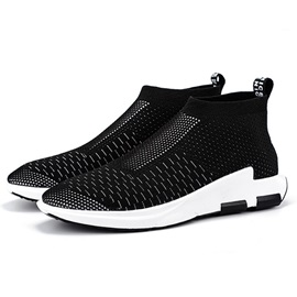 Spandex Plain Slip-On Round Toe Men's Sneakers