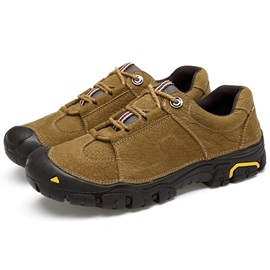 PU Plain Lace-Up Cool Men's HikiNG Shoes