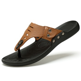 PU Plain Slip-On Men's Fitflops