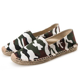 Canvas Camouflage Slip-On Chic Men's Shoes