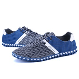 Mesh Color Block Plain Brisk Sneakers for Men