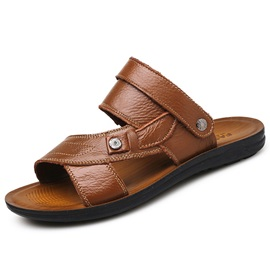 PU Plain Slip-On Open Toe Men's Flip Flops