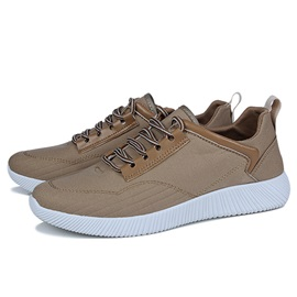Canvas Patchwork Lace-Up Sneaker for Men