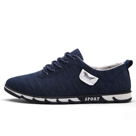 Canvas Plain Lace-Up Men's Sneakers