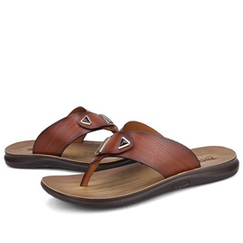 PU Slip-On Plain Thong Sandals for Men