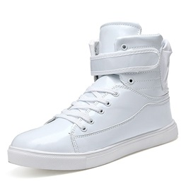 PU Velcro Plain Mid-Cut Upper Men's Sneakers