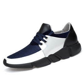 Mesh Color Block Hidden Elevator Heel Sneakers