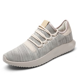 Mesh Round Toe Glueing Lace-Up Versatile Sneakers