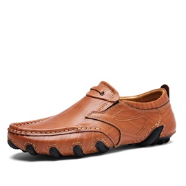 PU Sewing Slip-On Plain Men's Casual Shoes
