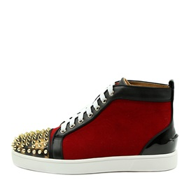 PU Rivet Sequin Color Block Men's Shoes