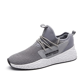 Mesh Lace-Up Low-Cut Upper Men's Sneakers