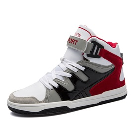 Mesh Patchwork Velcro High-Cut Upper Men's Shoes