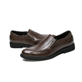 PU Slip-On Round Toe Plain Dress Shoes for Men