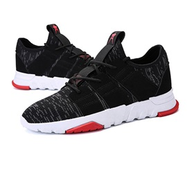 Mesh Patchwork Lace-Up Versatile Men's Sneakers