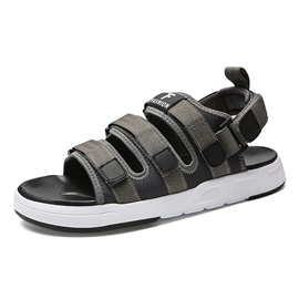 Cloth Velcro Open Toe Men's Casual Sandals