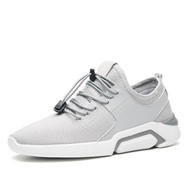 Mesh Plain Elastic Band Men's Breathable Sneakers