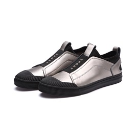 PU Patchwork Slip-On Men's Casual Shoes