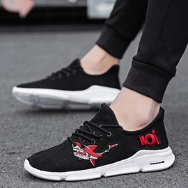 Mesh Lace-Up Low-Cut Upper Men's Breathable Sneakers
