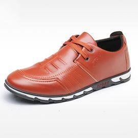 PU Round Toe Low-Cut Upper Men's Shoes