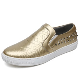 PU Rivet Low-Cut Upper Men's Shoes