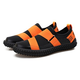 PU Color Block Slip-On Men's Casual Shoes
