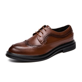Round Toe Lace-Up Men's Dress Shoes