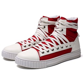 Canvas High-Cut Upper Men's Chic Sneakers