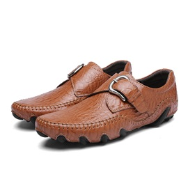 Plain Round Toe Slip-On Men's Casual Shoes