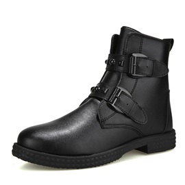 PU Round Toe Men's Winter Boots