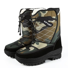 Waterproof Round Toe Velcro Men's Snow Boots