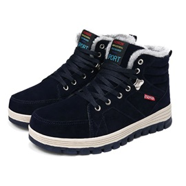 Lace-Up Front Round Toe Men's Work Boots