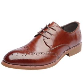 PU Lace-Up Pointed Toe Men's Dress Shoes