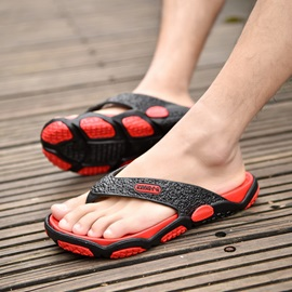PVC Thong Color Block Men's Slippers