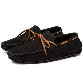 Plain Faux Suede Round Toe Slip-On Men's Casual Shoes