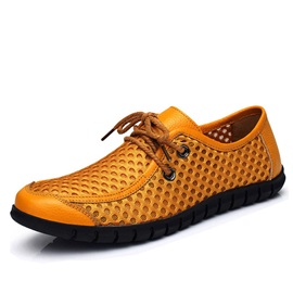 Elastic Band Flat Heel Round Toe Men's Casual Shoes