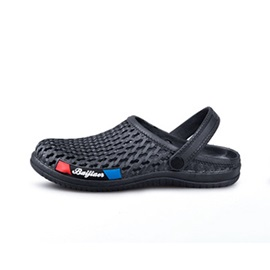 Slip-On Letter Flat Heel Round Toe Hollow Men's Sandals