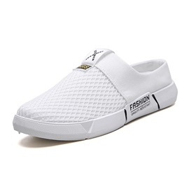 Slip-On Low-Cut Upper Color Block Mesh Men's Sandals