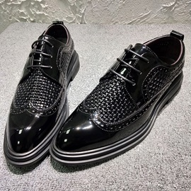 Plain Lace-Up Pointed Toe Men's Prom Shoes
