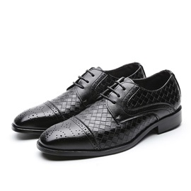 Square Toe Men's PU Leather Shoes
