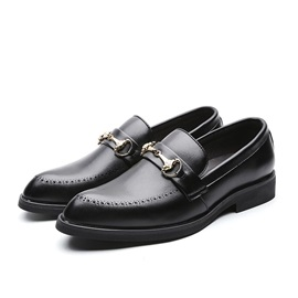 Low-Cut Upper Pointed Toe Men's PU Leather Shoes