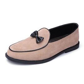 Color Block Slip-On Bownot Men's Prom Shoes