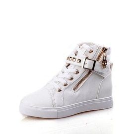 Comfortable Campus Style Lace-Up Pattern Canvas Shoes